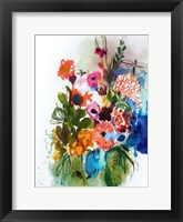 Framed Flowers and Insects One