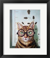 Framed Feline Eye Exam