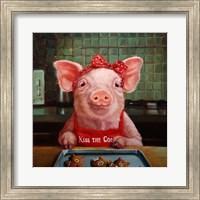 Framed Gingerbread Pigs