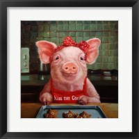 Framed Gingerbread Pigs