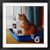 Framed Kitty Throne
