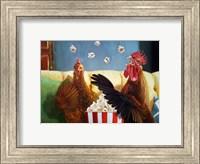 Framed Popcorn Chickens