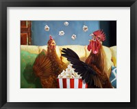 Framed Popcorn Chickens