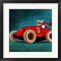 Framed Speed Racer
