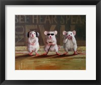 Framed Three Wise Mice