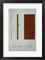 Framed Three Little Pigs