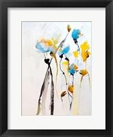 Framed Blue Flowers II