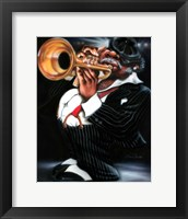 Framed Jazzman Papa Joe