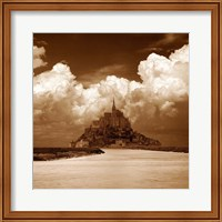 Framed Mont San Michel