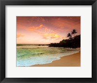 Framed North Shore Dawn, Oahu