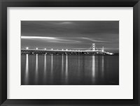 Framed Mackinac Bridge BW