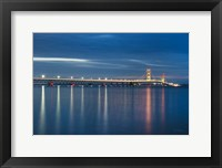 Framed Mackinac Bridge