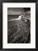 Framed Pictured Rocks Michigan I BW