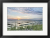 Framed Lake Michigan Sunset III