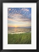 Framed Lake Michigan Sunset I