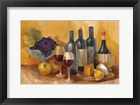 Framed Wine and Fruit I v2