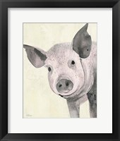 Framed Oink Pink Crop