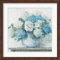 Framed Blue Hydrangea Cottage Crop