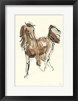 Framed Sketchy Horse VI
