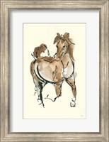 Framed Sketchy Horse V