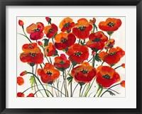Framed Poppin Up Poppies