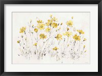 Framed Wildflowers I Bright Yellow