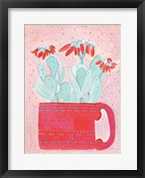 Framed Coral Cuppa