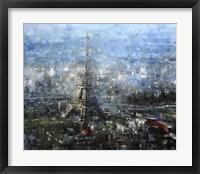 Framed Blue Paris
