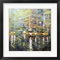 Framed Manhattan Orange & Green