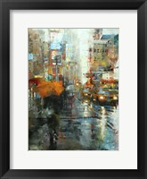 Framed Manhattan Orange Umbrella