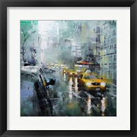 Framed New York Rain