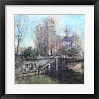 Framed Notre Dame on the Seine