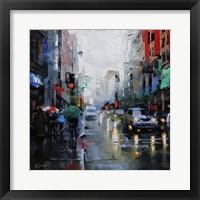 Framed St. Catherine Street Rain