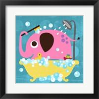 Framed Elephant in Bathtub