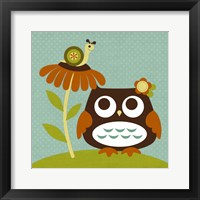 Framed Owl Looking at Snail