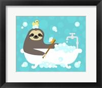 Framed Scrubbing Bubbles Sloth