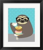 Framed Snacking Sloth