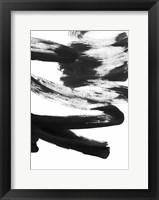 Framed Black and White Strokes 5