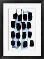Framed Black White Blue