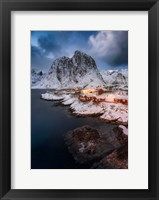 Framed Red Cottages of Hamnoy