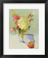 Framed Hydrangea with Blue Pitcher