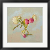 Framed Peonies in Glass