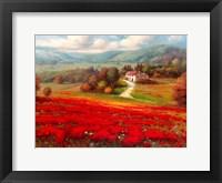 Framed Poppy Fields Afar