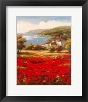Framed Poppy Harbor