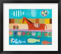 Framed Red Horse