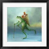 Framed Yuletide Frog