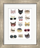 Framed Cats with Glasses