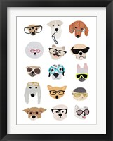 Framed Dogs with Glasses