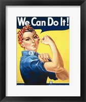 Framed Rosie the Riveter