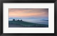 Framed Capella di Vitaleta at Dawn - Tuscany I